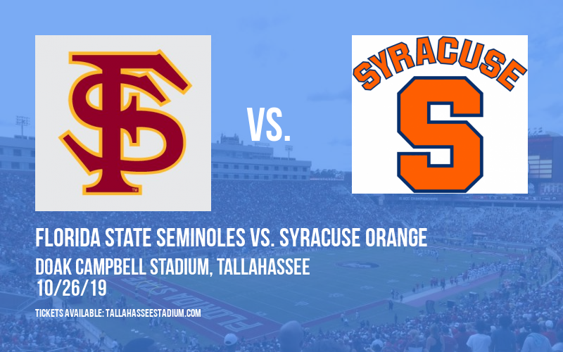 PARKING: Florida State Seminoles vs. Syracuse Orange at Doak Campbell Stadium