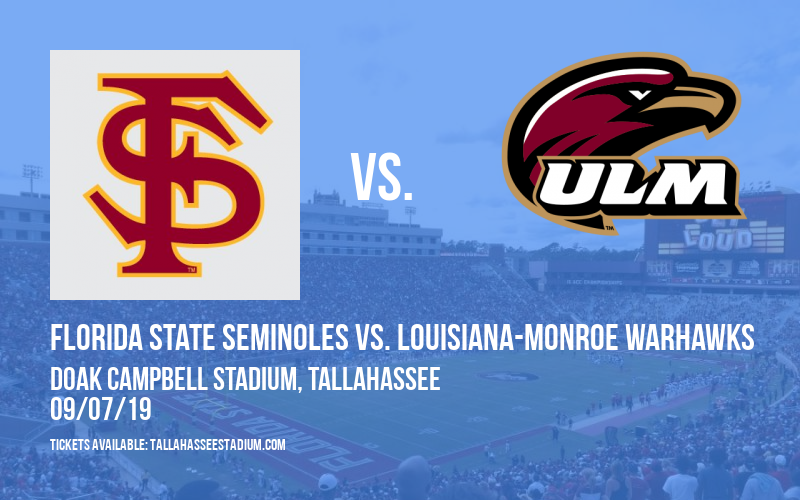 Florida State Seminoles vs. Louisiana-Monroe Warhawks at Doak Campbell Stadium