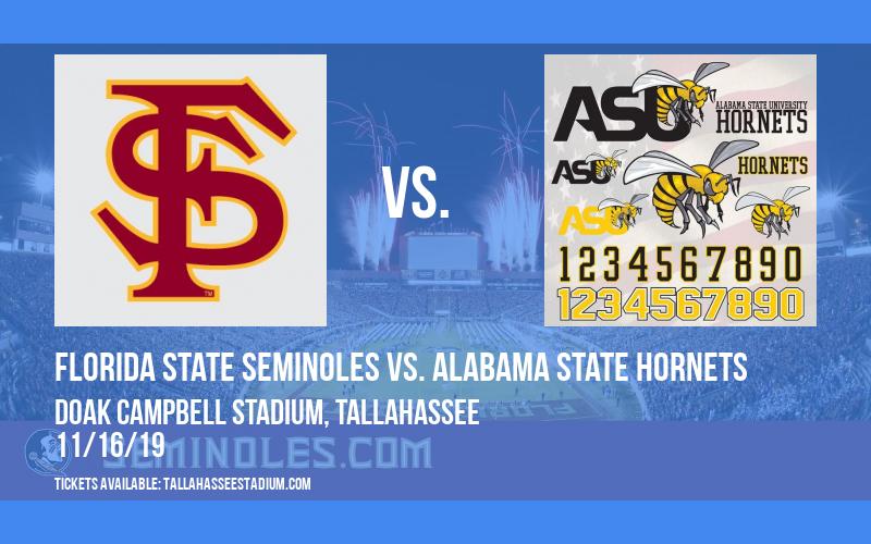 Florida State Seminoles vs. Alabama State Hornets at Doak Campbell Stadium