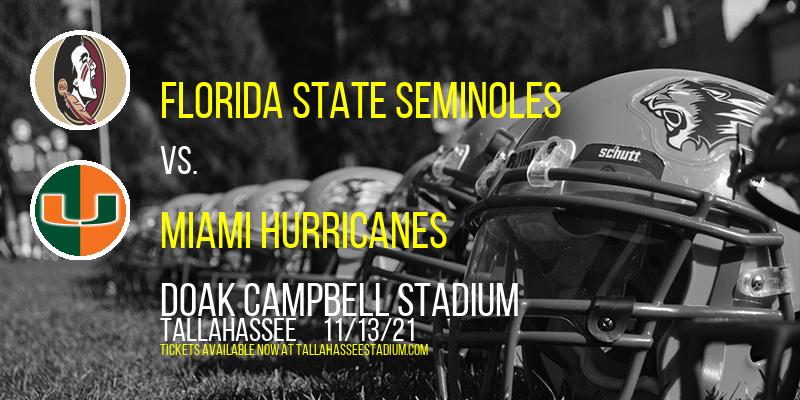 Florida State Seminoles vs. Miami Hurricanes at Doak Campbell Stadium